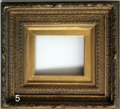 5)  19TH C. AMERICAN COMPOSITION GILT COVE FRAME,