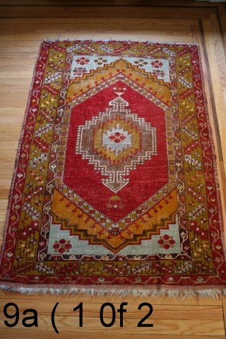 "9) 2 VERY SIMILAR TURKISH RUGS; BOTH 42"" X 5'; ONE WITH"