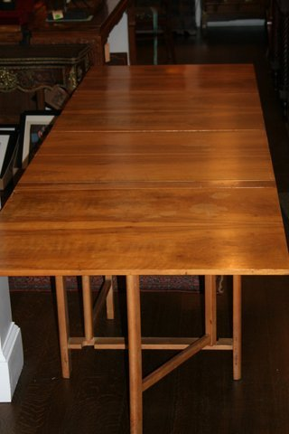 402) 20TH C. STURE G. OHLSSON DROP-SIDE EXT. TABLE - 9
