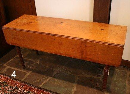4) 19TH C. PINE HARVEST TABLE,
