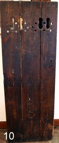 10) 18TH C. OAK 3-BOARD DOOR ,