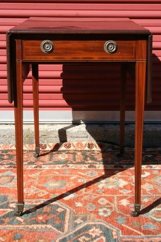 20) EARLY 19TH C. PEMBROKE TABLE W/ INLAY