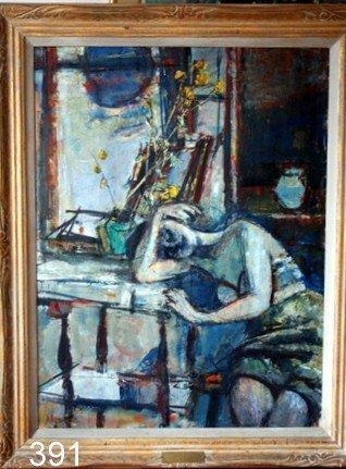 """391) SIGMUND MENKES, N.A. (1896-1986) O/C, """"DAY'S END"""","""