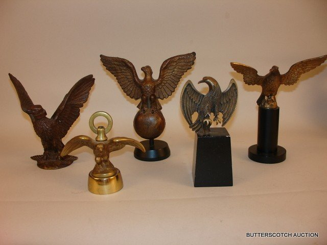 18) LOT OF 5: AMERICAN EAGLE FREESTANDING BRONZES