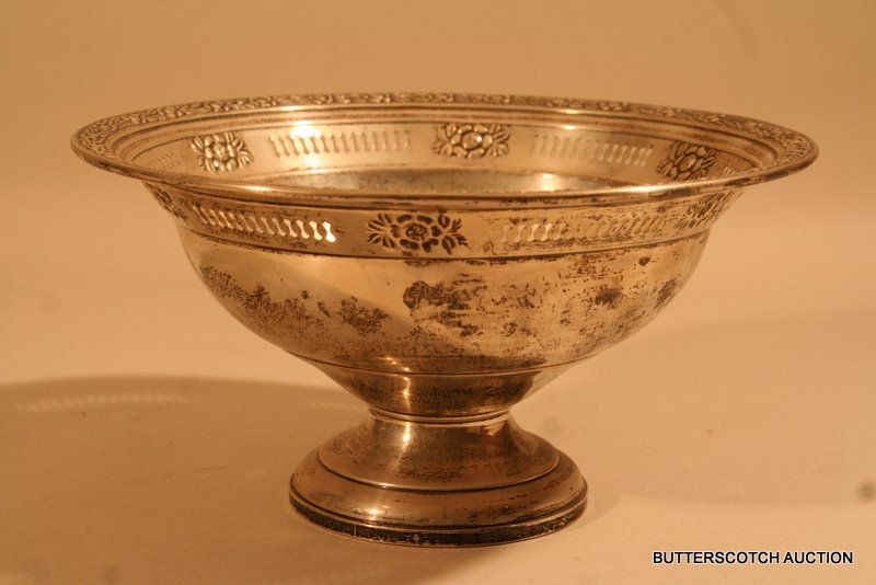273:  STERLING SILVER FOOTED BOWL