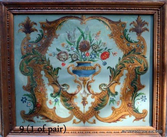 9) PAIR  L. 19TH C. PAINTINGS BY JULES ETIENNE CAROT,