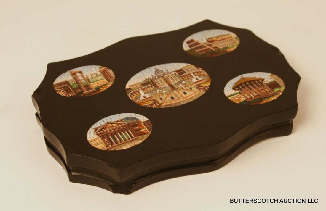 24) GRAND TOUR MICRO MOSAIC PAPER WEIGHT