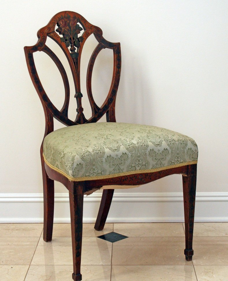 2) 18TH C. ADAMS STYLE ENGLISH SIDE CHAIR having