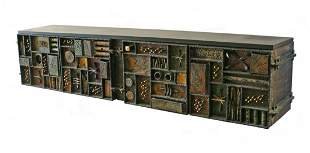156) PAUL EVANS SCULPTED FRONT WALL-MOUNTED