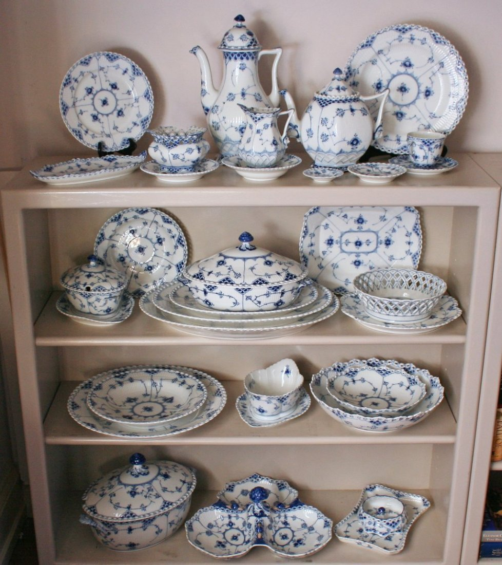 "269) ROYAL COPENHAGEN ""OPENLACE"" PATTERN CHINA SERVICE"