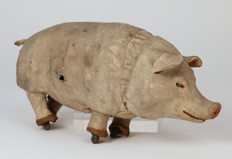 DECAMPS CLOCKWORK TOY PIG