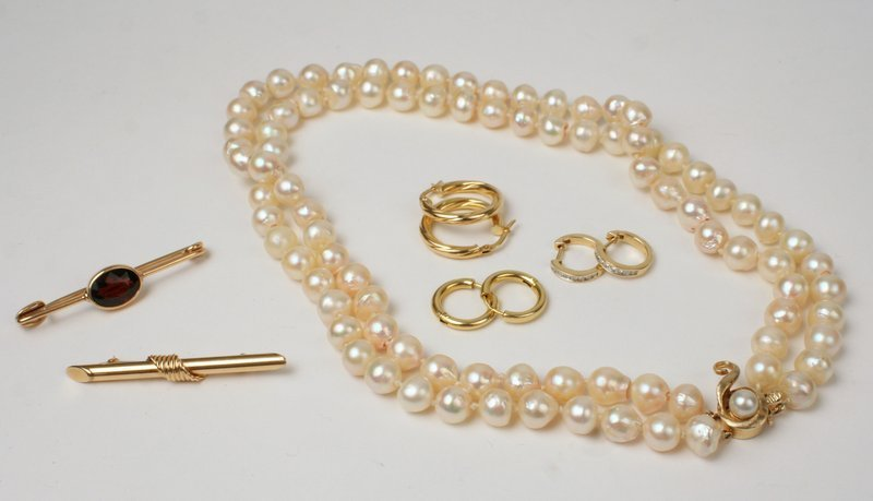 9 PC. JEWELRY LOT: