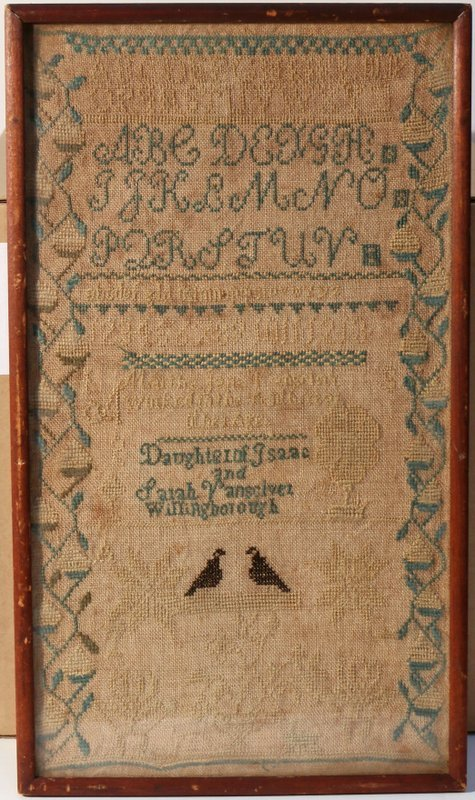 "19TH CENTURY SAMPLER, with alphabet, ""Daughter"