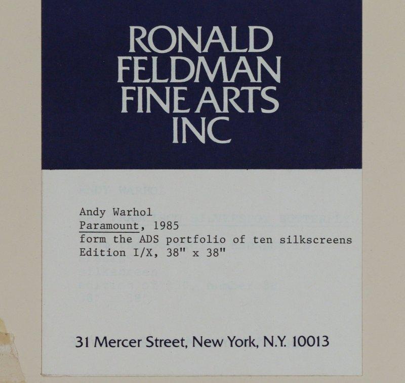 ANDY WARHOL (American, 1930-1987) - 8