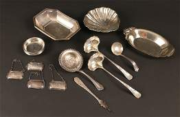 18 PCS. MISC. STERLING SILVER HOLLOWWARE AND FLATWARE