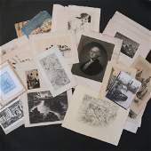 LARGE LOT OF ETCHINGS  OTHER PRINTS