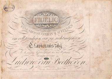 [INSCRIBED] BEETHOVEN, LUDWIG VAN (1770-1827)