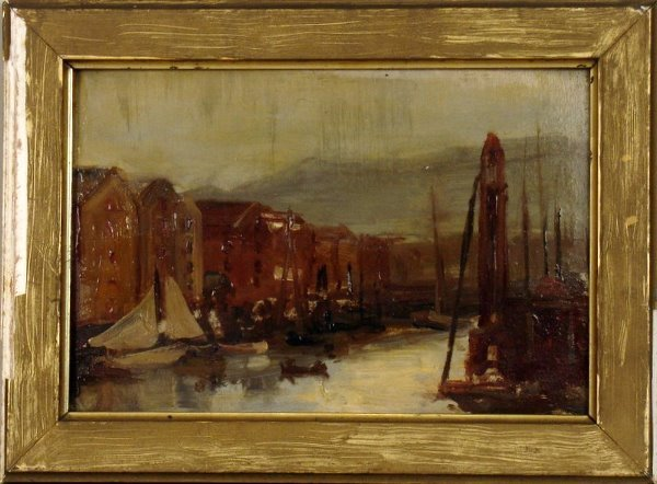 3:   19TH C. CONTINENTAL SCHOOL PAINTING, O/C, CANAL