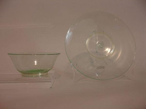 373: SET 12 VENETIAN GLASS DESSERT BOWLS & UNDERPLATE