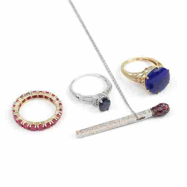 (4pc) MISC GOLD JEWELRY