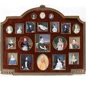 (20pc) FAMILIAL PORTRAIT MINIATURE COLLECTION