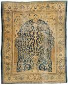 LARGE ANTIQUE MUGAL INDIAN/SHIRAZ  PRAYER CARPET