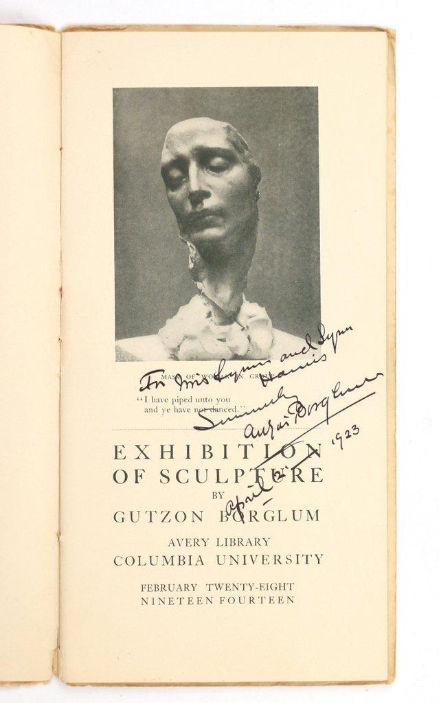 (3pc) GUTZON BORGLUM (American, 1867-1941) - 8