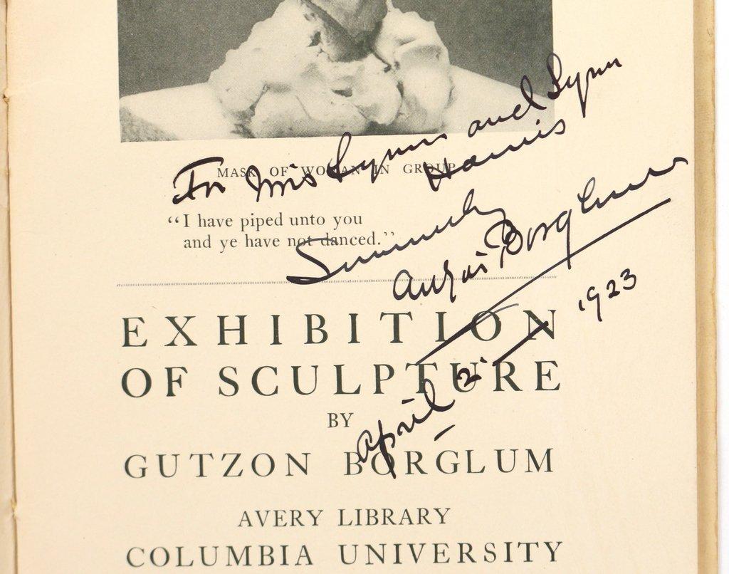 (3pc) GUTZON BORGLUM (American, 1867-1941) - 9