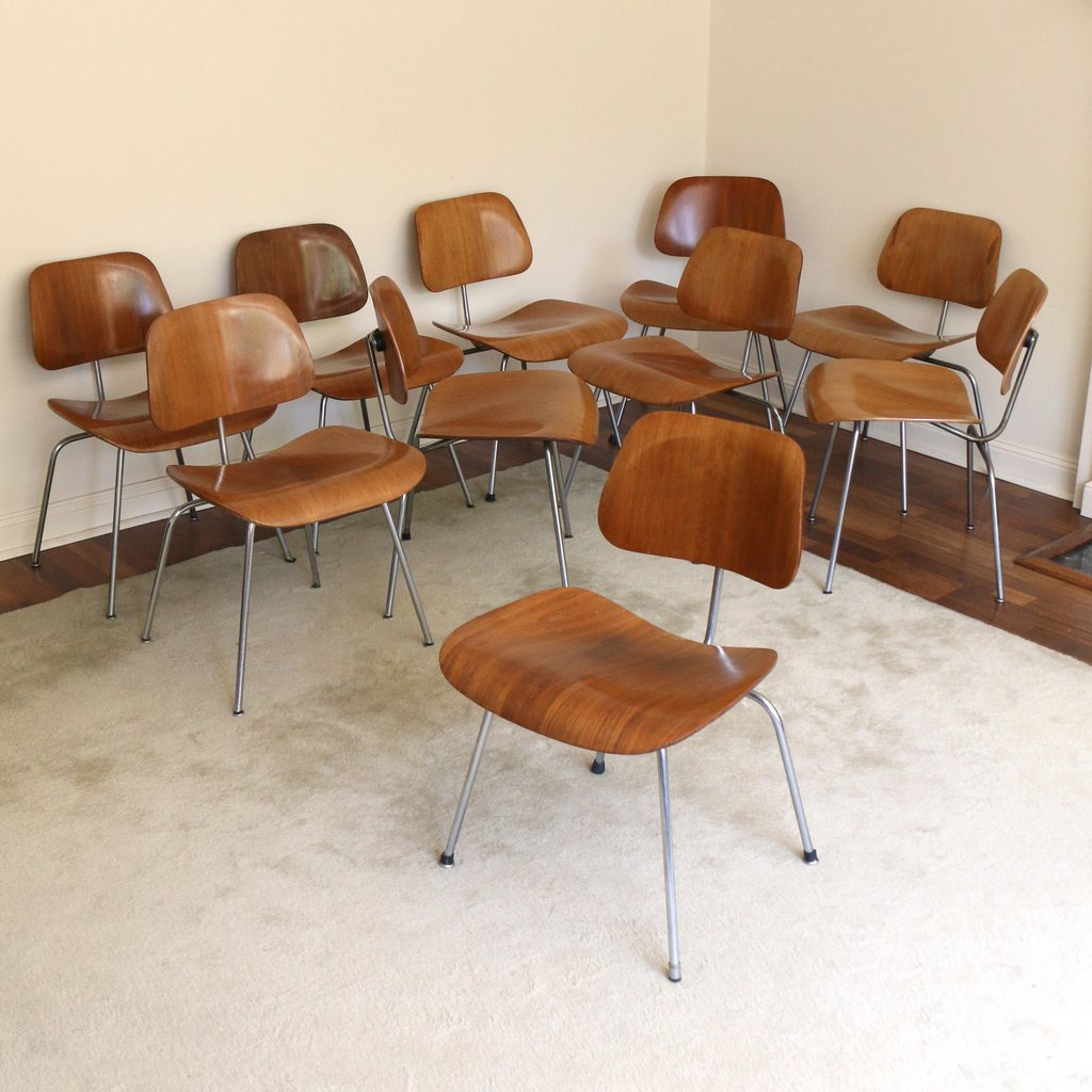 (10pc) EAMES FOR HERMAN MILLER DCM CHAIRS