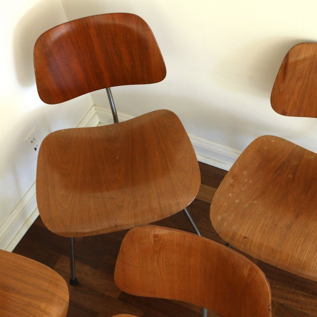 (10pc) EAMES FOR HERMAN MILLER DCM CHAIRS - 2