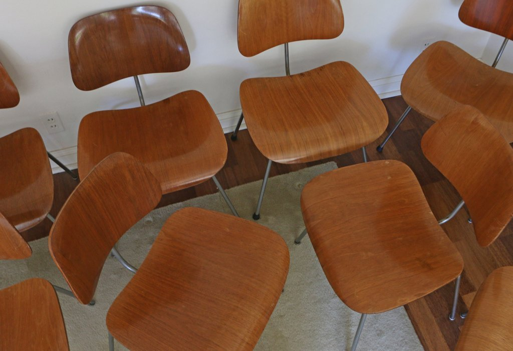 (10pc) EAMES FOR HERMAN MILLER DCM CHAIRS - 3