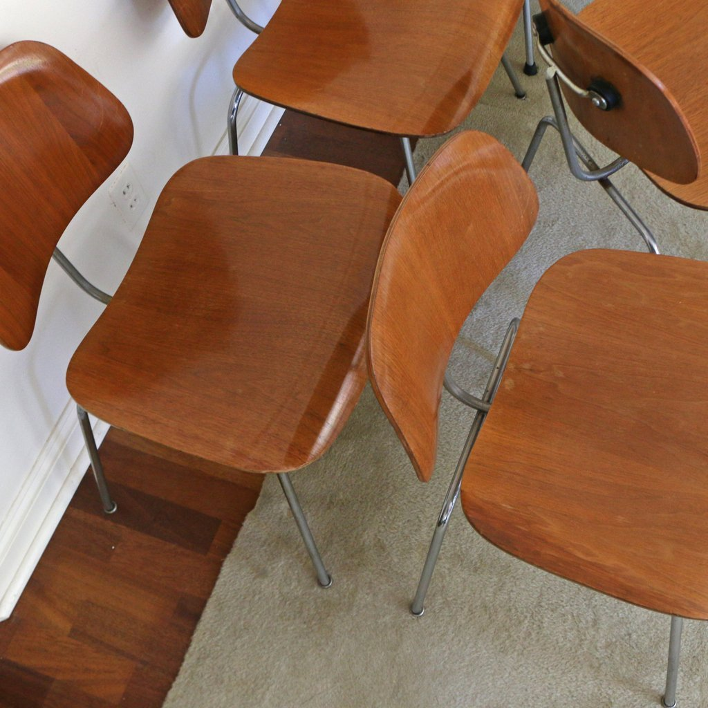 (10pc) EAMES FOR HERMAN MILLER DCM CHAIRS - 4