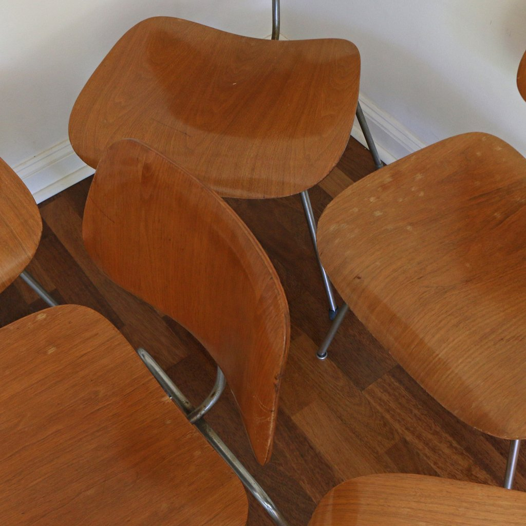 (10pc) EAMES FOR HERMAN MILLER DCM CHAIRS - 6
