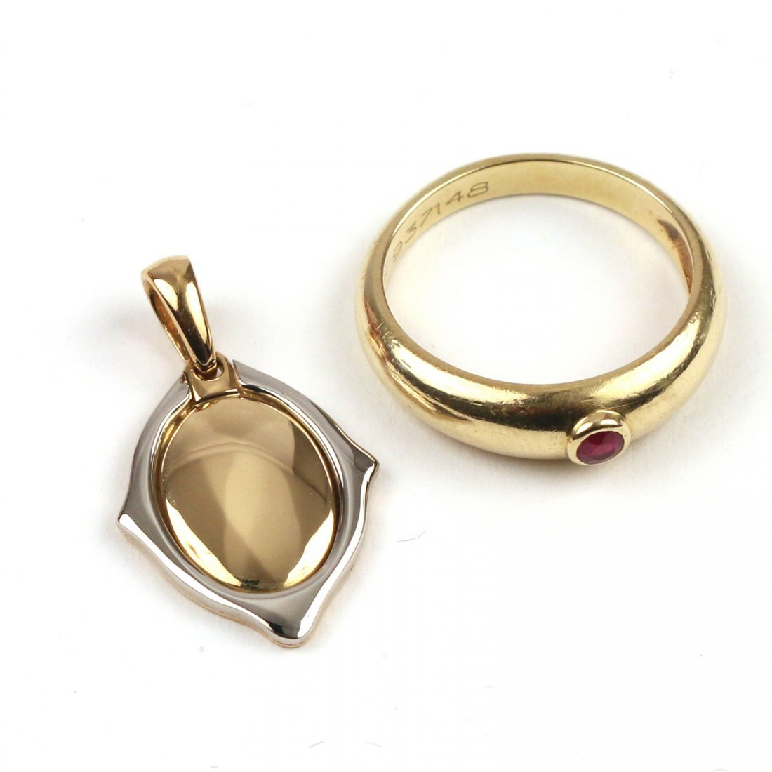 (2pc) BOXED CARTIER GOLD JEWELRY