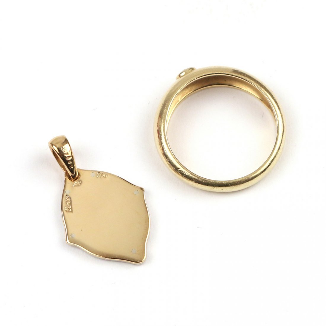 (2pc) BOXED CARTIER GOLD JEWELRY - 3