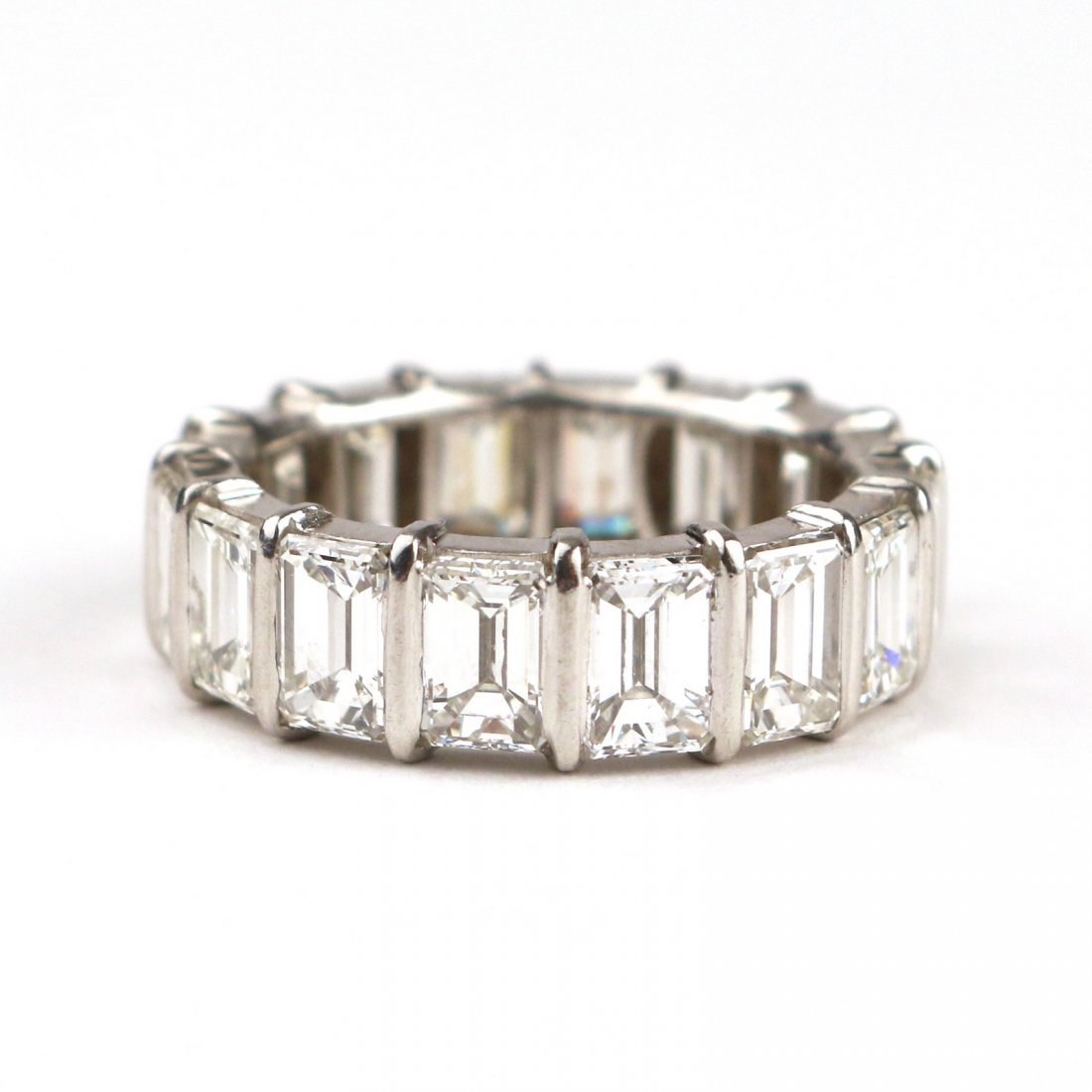 EMERALD CUT DIAMOND ETERNITY BAND - 2