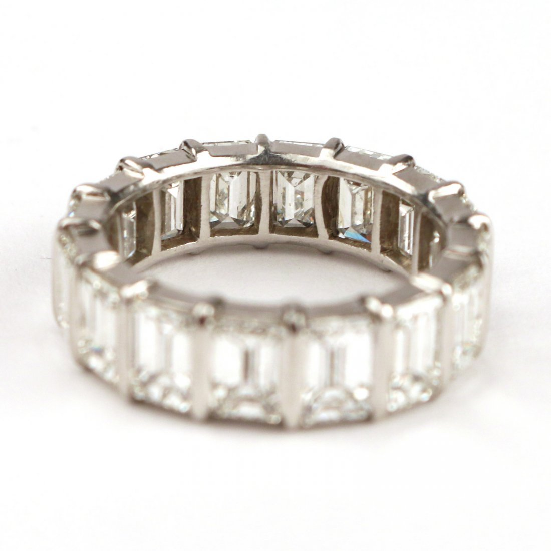 EMERALD CUT DIAMOND ETERNITY BAND - 3