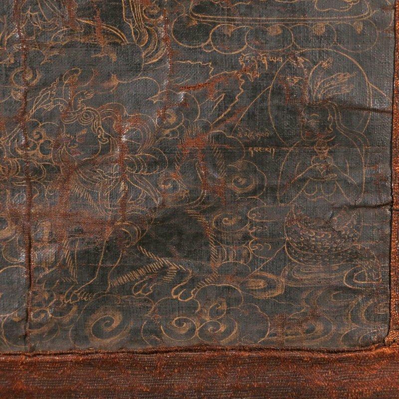 EARLY SINO-TIBETAN BLACK-GROUND THANGKA - 4