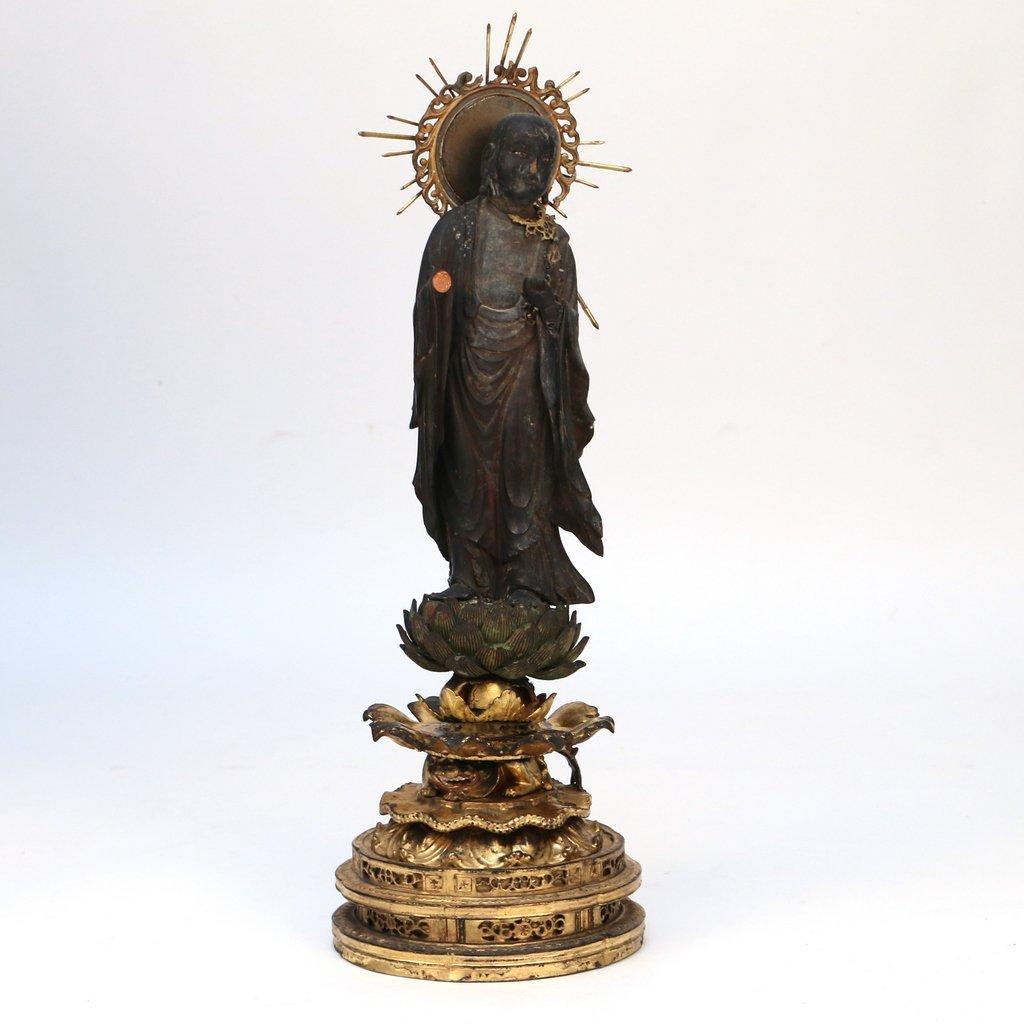 JAPANESE LACQUERED TRAVELING BUDDHIST SHRINE - 4
