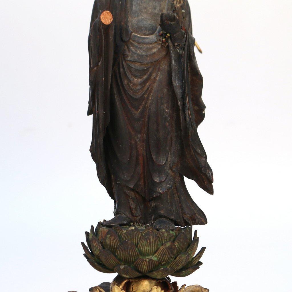 JAPANESE LACQUERED TRAVELING BUDDHIST SHRINE - 6