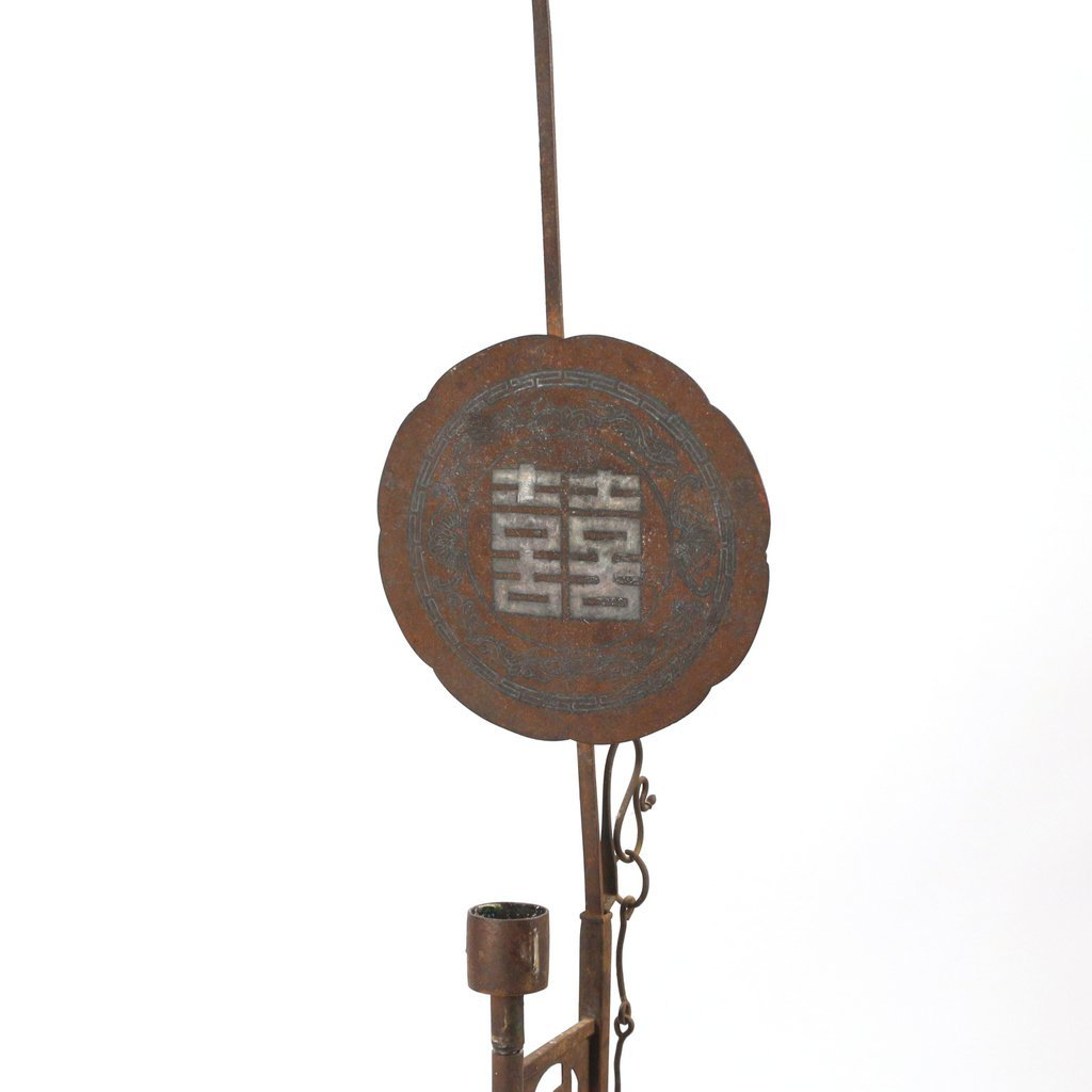 CHINESE IRON CANDLE HOLDER - 2