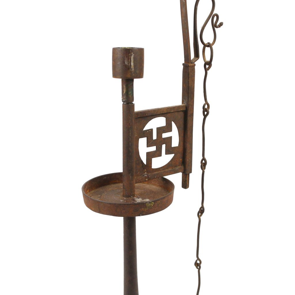 CHINESE IRON CANDLE HOLDER - 3
