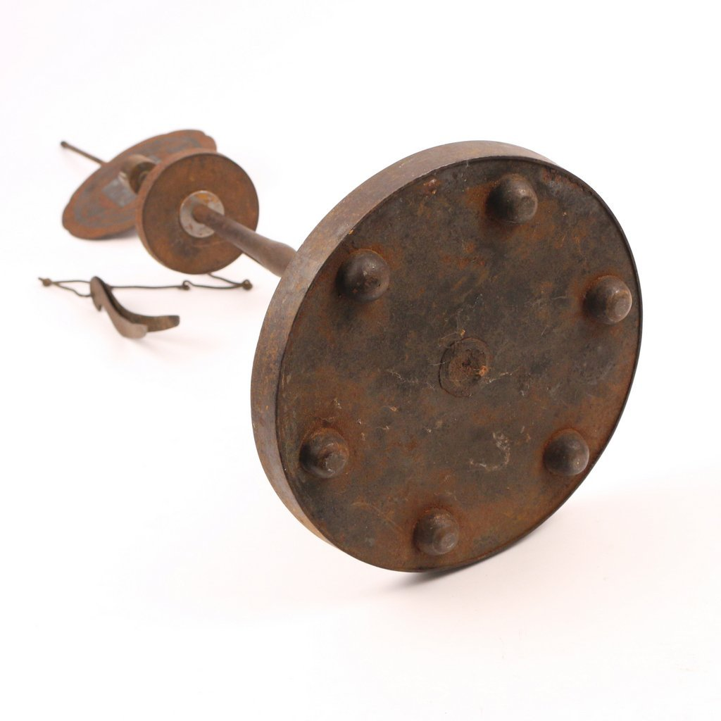 CHINESE IRON CANDLE HOLDER - 4