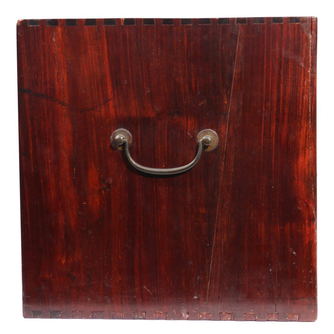 CHINESE HARDWOOD SEAL COLLECTION BOX - 2