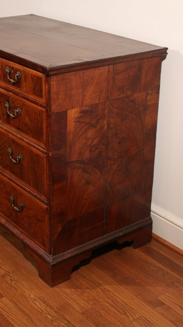 QUEEN ANNE INLAID ROSEWOOD CHEST - 3