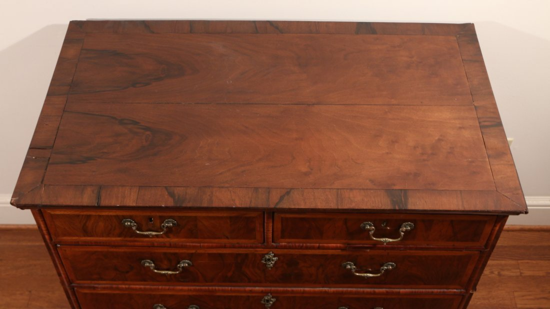 QUEEN ANNE INLAID ROSEWOOD CHEST - 5