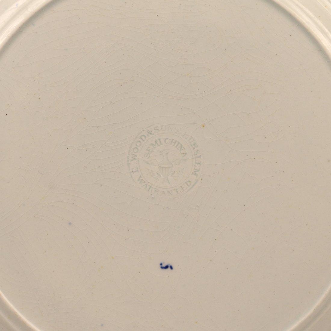 (2pc) DARK BLUE STAFFORDSHIRE HISTORIC PLATES - 6
