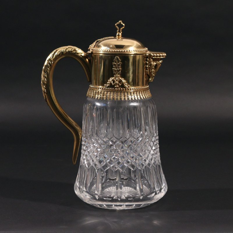 VERMEIL AND CUT CRYSTAL PITCHER - 2