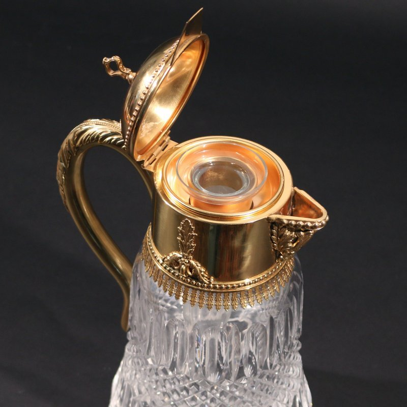 VERMEIL AND CUT CRYSTAL PITCHER - 3