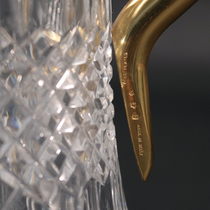 VERMEIL AND CUT CRYSTAL PITCHER - 4